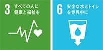 すべての人に健康と福祉を 安全な水とトイレを世界中に